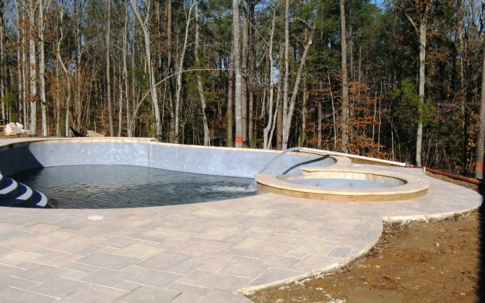 Pictures Of North Carolina Swimming Pool Filling Process