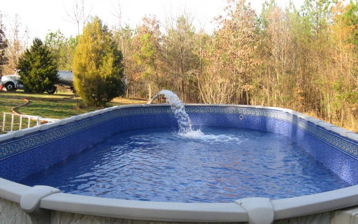 Pictures Of North Carolina Swimming Pool Filling Process Raleigh Cary Durham Chapel Hill Wake